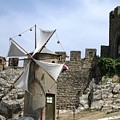 Obidos Windmill Portugal by John Shiron