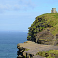 O'brien's Tower Along The Cliff's Of Moher In Ireland by DejaVu Designs