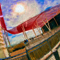 Observation Tower Circuit Of The Americas by Blake Richards