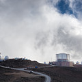 Observatories At The Summit Of Mount Haleakala by Jim Thompson
