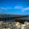 Obx Pier by Valerie Morrison