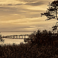 Obx Sunset In Sepia by Jeff Breiman