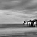 Ocean City Pier 1 Bw by Don Keisling