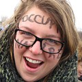 Occupy Nature Face Paint At Political Demonstration by Ben Schumin