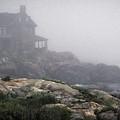 Ocean Avenue House In Fog by Samuel M Purvis III