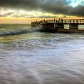 Ocean Fishing Pier Sunrise by R Scott Duncan