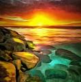 Ocean Lit In Ambiance by Catherine Lott