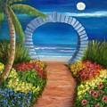 Ocean Moon Gate Sold by Susan Dehlinger