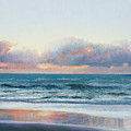 Ocean Painting - Days End by Jan Matson
