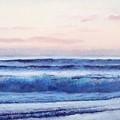 Ocean Painting 'dusk' By Jan Matson by Jan Matson