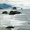 Ocean Rocks Off The Oregon Coast by Lincoln Rogers