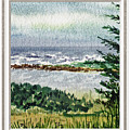 Ocean Shore Window View by Irina Sztukowski