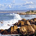 Ocean Spray In Monterey by Lorrie Morrison