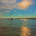 Ocean Sun Path At Boothbay Harbor by Viktor Arsenov