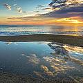 Ocean Sunrise Reflection by R Scott Duncan