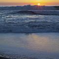 Ocean Wave Kisses The Sun by Sharon Foelz