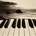 Ocean Washing Over Keyboard by Garry Gay