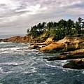 Oceanside - Depoe Bay by Marilyn Smith