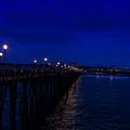 Oceanside Pier Night Image by JG Thompson