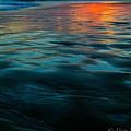 Oceanside Reflective Sunset by Misty Tienken