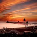 Oceanside Sunset 10 by Larry Marshall
