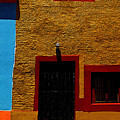 Ochre House With Blue Sky by Mexicolors Art Photography