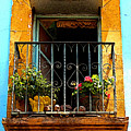 Ochre Window In Turqoise by Mexicolors Art Photography