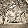 Oconee Station Historical Site Black And White by Lisa Wooten