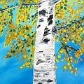 October Birch by Valerie Ornstein