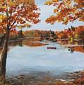 October Morn At Walden Pond by Jack Skinner