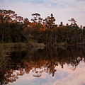 October Reflections On The River by Mechala Matthews
