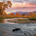 October Sunrise At The Provo River. by Johnny Adolphson