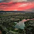 October Sunset After The Rain Lake Harveston by Adam Rainoff