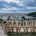Odeon Of Herodes Atticus - Athens Greece by Debra Martz