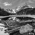 Odessa Lake Black And White by Aaron Spong