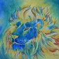 Of Another Color Blue Lion by Summer Celeste
