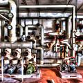 Office Building Pump Room - Sala Pompe Palazzo Abbandonato Paint by Enrico Pelos