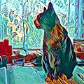 Office Cat by Samuel Pye