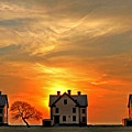 Officer's Row At Sunset by Rich Despins