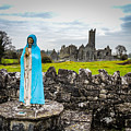 Official Greeter At Ireland's Quin Abbey National Monument by James Truett