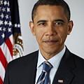 Official Portrait Of President Barack by Everett