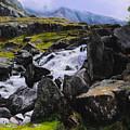 Ogwen Rock Waterfall by Harry Robertson
