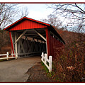 Ohio Covered Bridge by Joan  Minchak