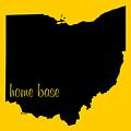 Ohio Is Home Base Black by Custom Home Fashions
