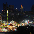 D3l-464 Ohio State Fair With Columbus Skyline by Ohio Stock Photography