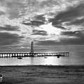 Oil Derrick - Point Loma From Coronado Beach San Diego C.1900 by Daniel Hagerman