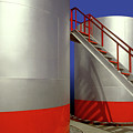 Oil Industry Storage Tank by Dennis Thompson