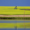 Oil Jack Reflection Saskatchewan by Mark Duffy
