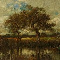 Oil Painting Landscape by Dupre Jules