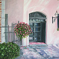oil painting print art for sale Pink Wall and Door   by Diane Jorstad